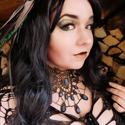 Steampunk Pagan Goth mit Tropfencollier, Foto/Edit/Model: Ishisu_y, Claudia die Designerin von Bloody Brilliants