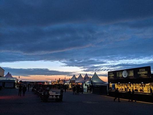 Sonnenuntergang bei Mera Luna Festivalgelände
