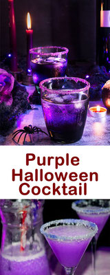 Purple Halloween Cocktail Rezepte