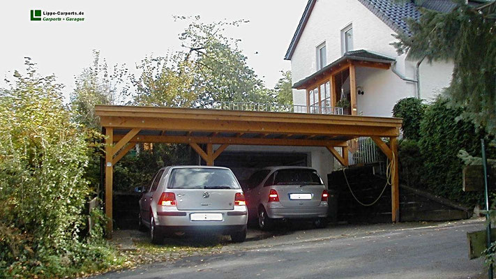 individual flachdach carports carport garage in holz. Black Bedroom Furniture Sets. Home Design Ideas