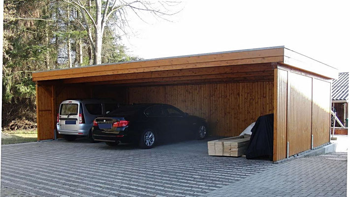 dreiercarports reihencarports carport in holz alu stahl carport bausatz. Black Bedroom Furniture Sets. Home Design Ideas
