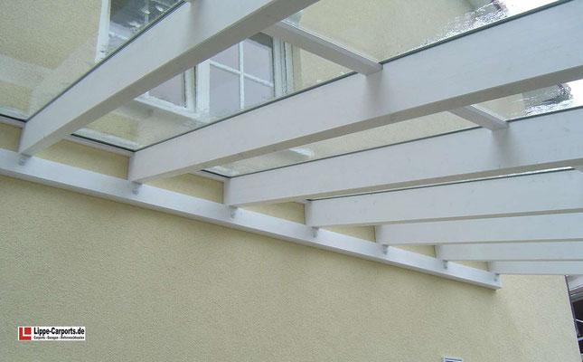 Beispiel-Nr. WA-19.2    Detail Dachverglasung mit Verbundsicherheitsglas, oberseitige Eindichtung mit wetterfestem Alusprossen-System