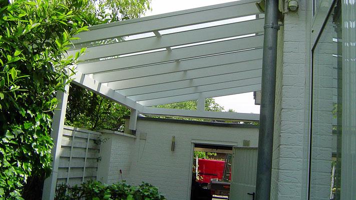 Beispiel-Nr. GD33     Glasdach-Carport, inszwischen als Schutzdach -Unterstand zweckentfremdet
