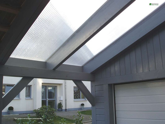 Beispiel-Nr. LDS-1.5   Glasausschnitt hier mit Steg-3fach-Platten aus hagelresistentem Polycarbonat
