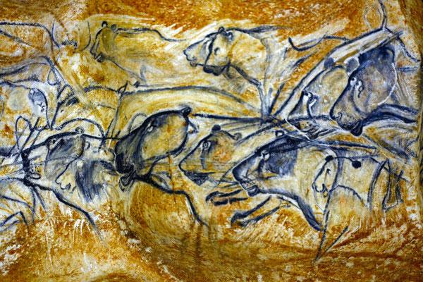 Peinture rupestre dans la grotte Chauvet 2 en sud Ardèche