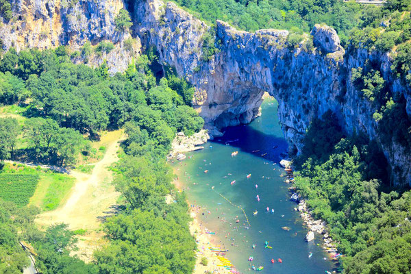 The Pont d'Arc in the gorges of the Ardèche