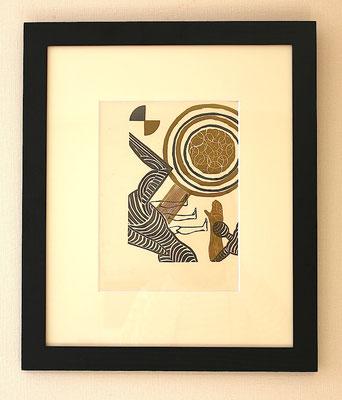 恩地孝四郎  海の童話より   木版画、和紙 1931年
