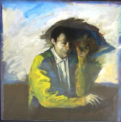 南口清二  私は疲れた  キャンバス、油彩  1983年