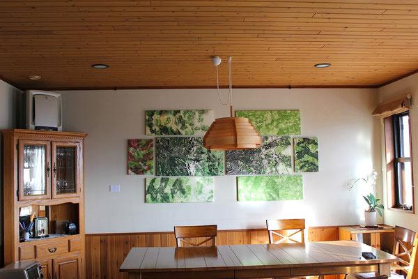 Masato Nagai/永井雅人 「Textures ( in memory of Toru Takemitsu)」銅版画、モノタイプ、パネル 2015年