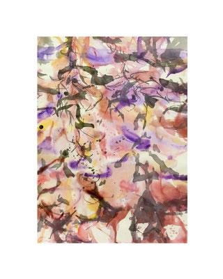Masato Nagai/永井雅人 「Textures 春」アクリル、墨、紙 2016年