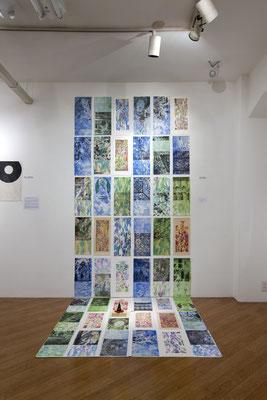 Masato Nagai/永井雅人  「シルクロードの光 敦煌の色」銅版画、モノタイプ、デジタルプリント、和紙、アクリル、水彩 2016年