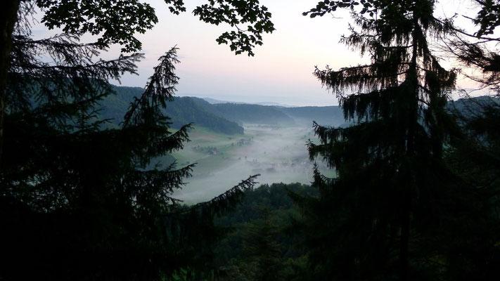 Tal im Morgennebel