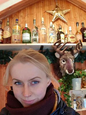 Mein freund Reh und ich in Road Runner Bar Hütte