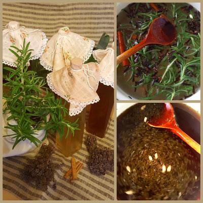 Hausgemachte Sirupe - Thymian und Spiced Rosmary