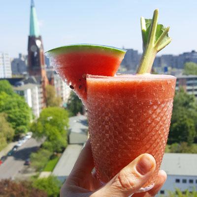 Watermelon & Rhubarb Smoothie