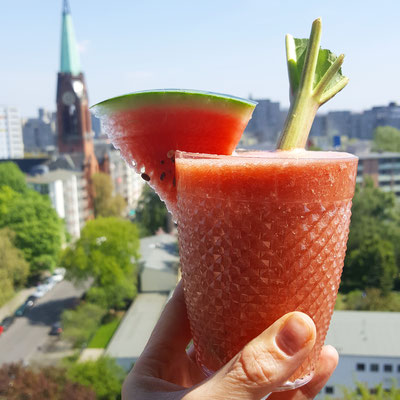 Watermelon & Rhubarb Smoothie