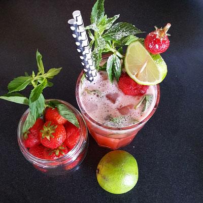 Strawberry - Edelflower - Mint Lemonade