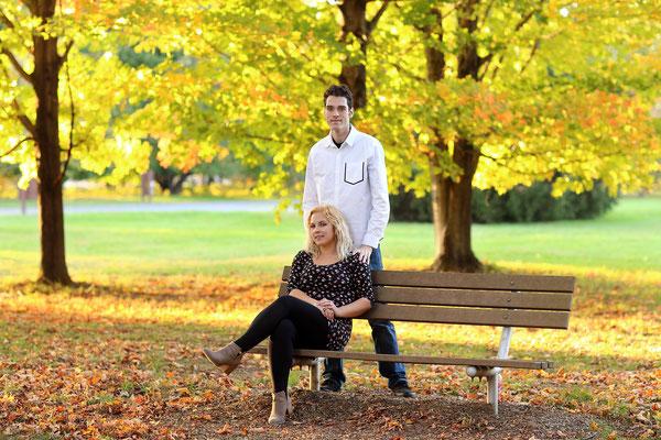 Engagement professional photo session.  Fall photo shot. Photographer PA, NJ, NY Gosia and Steve Tudruj 215-837-6651 www.momentsinlifephoto.com