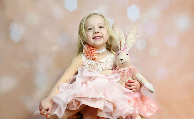 Happy Princess and Rabbit.  EASTER mini sessions! Book now your spot. Photographer PA, NJ, NY Gosia Tudruj 215-837-6651