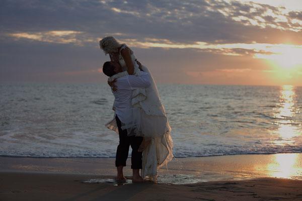 Beach day after the wedding session.  Sunset Beach Portrait Session. Wedding Photographer. Floryda - Gosia & Steve Tudruj 215-837-6651 www.momentsinlifephoto.com  Specializing in wedding photography, event, portrait