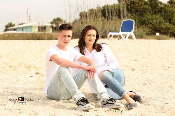 Mom and son.  Beach photo session. Nakomis Beach. Florida.  Photographer Fl Port St. Lucie  Malgorzata Tudruj 215-837-6651 www.momentsinlifephoto.com Specializin portrait, event, wedding.