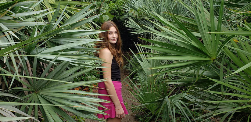 Girl. Ocean. Palm tree. Vacation time.  Beach photo session. Photographer Port st. Lucie. Florida. Malgorzata Tudruj 215-837-6651 www.momentsinlifephoto.com Specializin portrait, event, wedding.