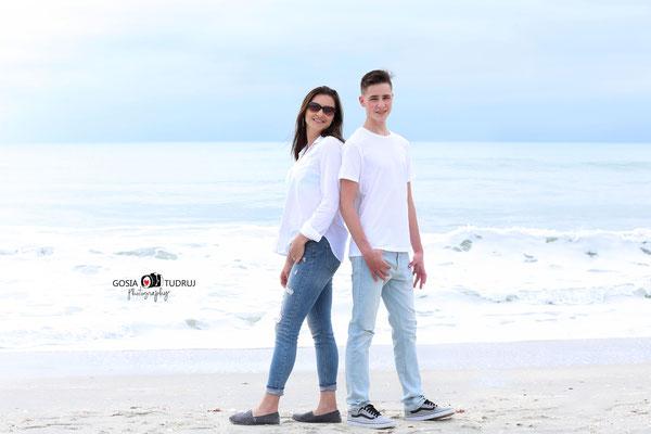 Mom and son.  Beach photo session. Nakomis Beach. Florida.  Photographer Port St. Lucie Florida.  Malgorzata Tudruj 215-837-6651 www.momentsinlifephoto.com Specializin portrait, event, wedding.