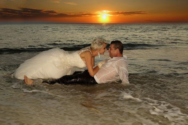Beach day after the wedding session. Sunset Beach Portrait Session Photographer Florida- Gosia & Steve Tudruj 215-837-6651 www.momentsinlifephoto.com  Specializing in wedding photography, event, portrait