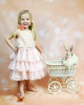 Happy Princess and Rabbit. EASTER mini sessions! Book now your spot. Photographer Gosia Tudruj 215-837-6651   Servis Pa and Bucks County PA. NJ. Studio -