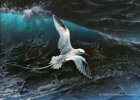 """""""Tropikvogel"""", Acryl auf Leinwand, 100 x 140 cm"""