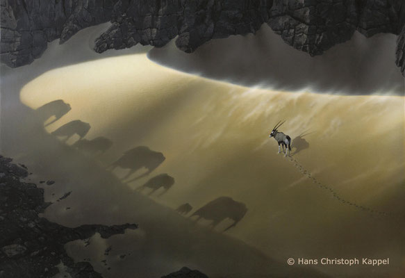 """Elephants"", Acryl auf Leinwand, 50 x 70 cm"