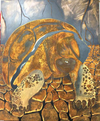 Schildkröte Acryl & Rost  90 cm x 110 cm   Preis a.A.