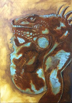 Leguan mit Rost 70cm x 100 cm     verkauft