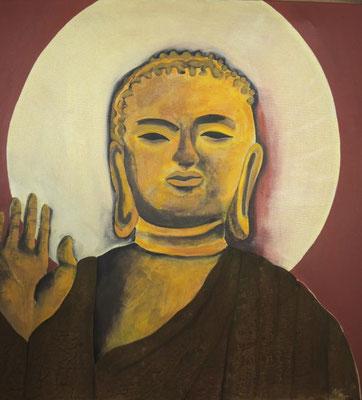 Buddha 90cm x 90 cm   Preis a.A.
