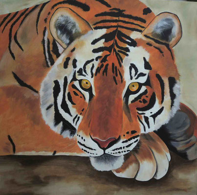 Tiger 100cm x 100 cm   Preis a.A.