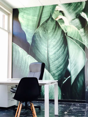 GL Consult Verrès. Carta da parati Tropical. Design Max Rizzolo Matrix Visual