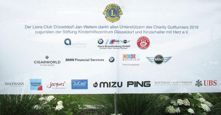 Zahlreiche Sponsoren tragen zum Erlös des Golfturniers bei