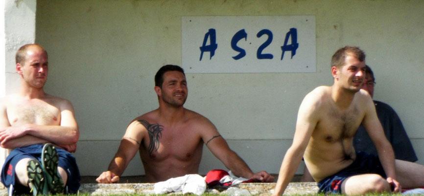 Dans la zone charme de l'AS2A : Mathias Broutin, Guillaume Scellier, Antoine Marque