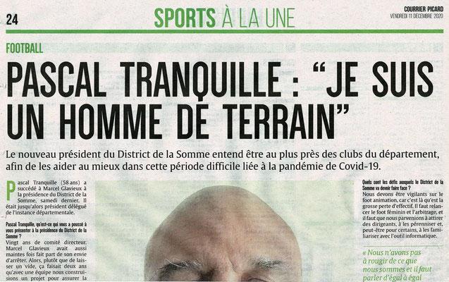 Article du Courrier Picard page 1 sport