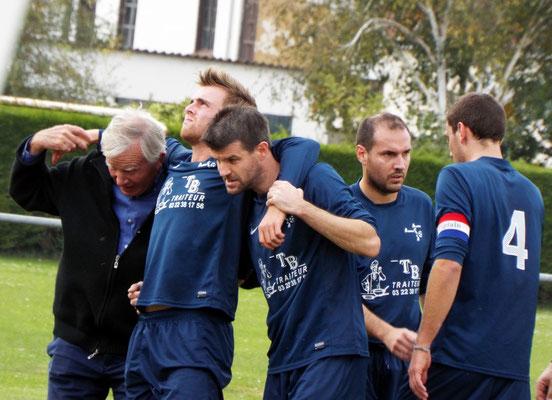 25ème : sortie sur blessure de Bastien Cagny