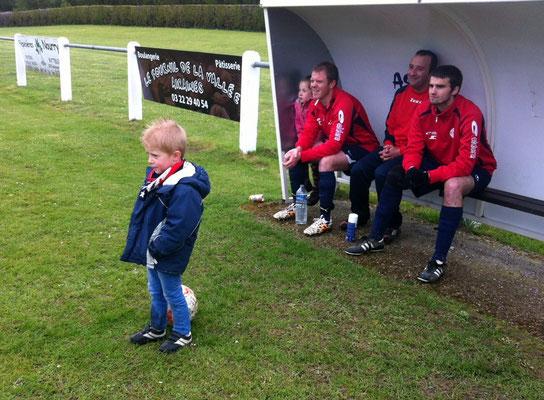 Le jeune Pierre-Louis semble déjà avoir un avis sur la future composition de l'équipe