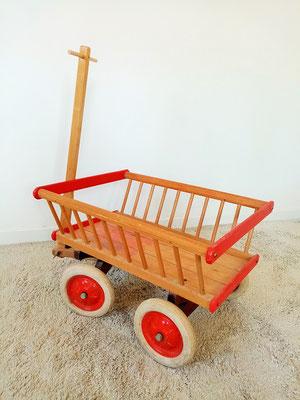 Chariot enfant jouet bois  vintage