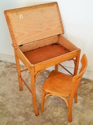 Ensemble enfant bureau pupitre et chaise vintage Baumann