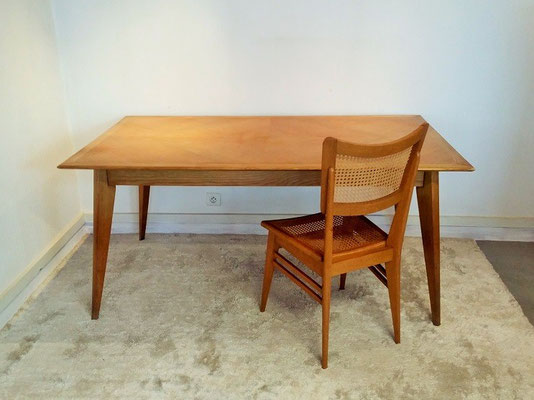 Table compas chene vintage
