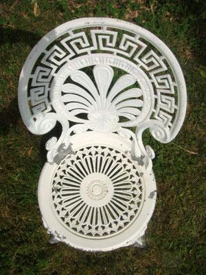 Chaises de salon de jardin rocaille vintage
