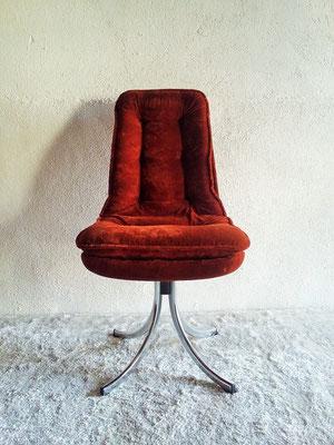 Chaise pivotante velours vintageChaise pivotante velours vintage