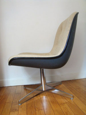 Chauffeuse Fauteuil Charles Pollock vintage