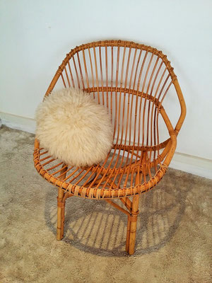 Fauteuil rotin adulte vintage