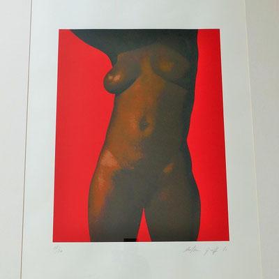 lithographie femme nu Antoine Graff
