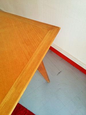 Table compas chene vintage